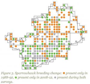 Sparrowhawk change map, Herts