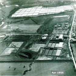Aerial view, Apr 1956