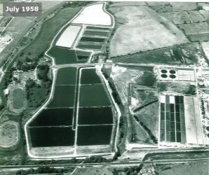 Aerial view, Jul 1958